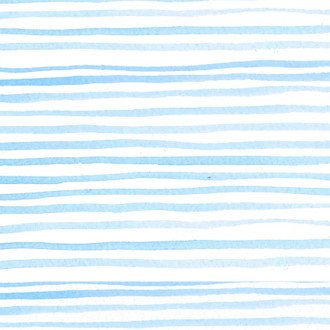 """Watercolor Stripe"" Ocean Patterned Paper, 10 pack"