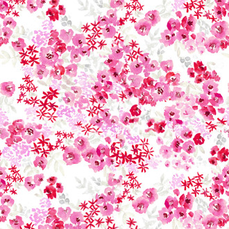 """Paloma"" Magenta Floral Patterned Paper, 10 pack"