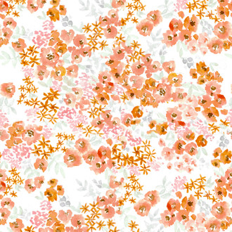 """Paloma"" Coral Floral Patterned Paper, 10 pack"