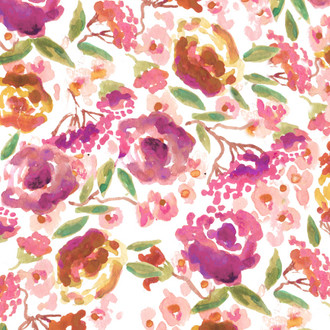 """Lucy"" Floral Patterned Paper, 10 pack"