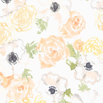 """Natalia"" Floral Patterned Paper, 10 pack"