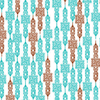 """Old West"" Patterned Paper, Turquoise, 10 pack"