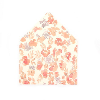 """Chloe"" Pink Floral Patterned A7 Envelope Liners, set of 10"
