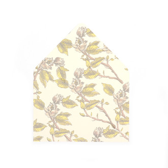 """Magnolia Branch"" Patterned A7 Envelope Liners, set of 10"