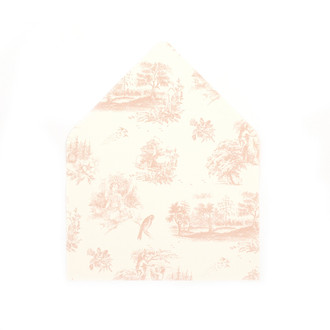 """""""Toile"""" Nude Patterned A7 Envelope Liners, set of 10"""