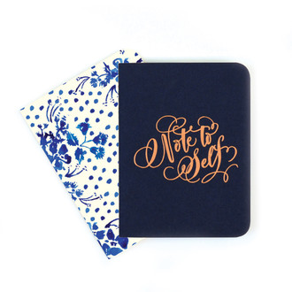 A2 Notebook Set, Navy and Wildflowers