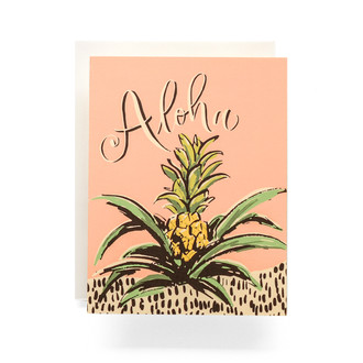 Aloha Pineapple Greeting Card