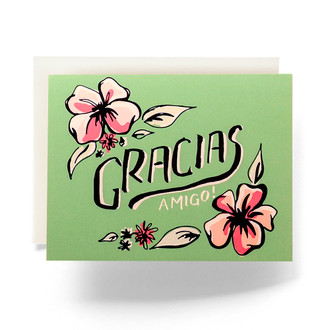 Tropical Gracias Greeting Card