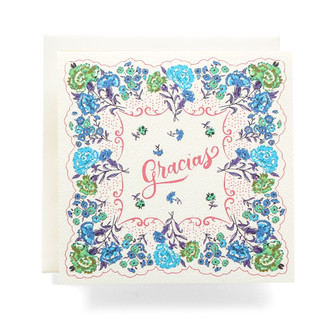 Handkerchief Gracias Greeting Card
