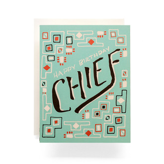 Happy Birthday Chief Birthday Card