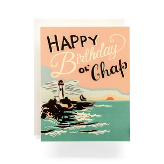 Lighthouse Happy Birthday Greeting Card