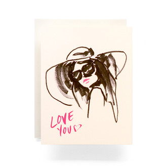 Love You Lady Greeting Card