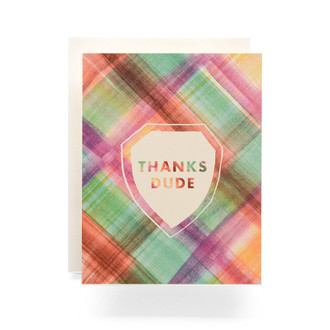 Madras Thanks Dude Greeting Card