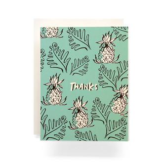 Pineapple Thanks Greeting Card