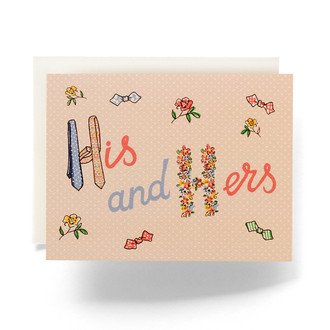 Retro His & Hers Greeting Card