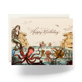 Sea Odyssey Happy Birthday Greeting Card