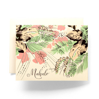 Tropical Mahalo Greeting Card