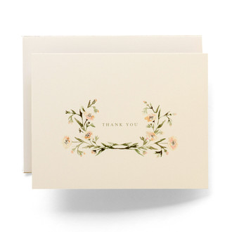 Floral Crown Thank You Greeting Card