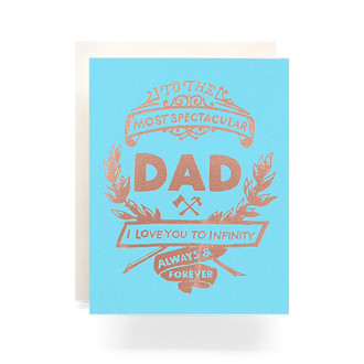 Fathers Day Crest Greeting Card