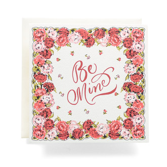 Handkerchief Be Mine Greeting Card