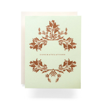 Botanical Wreath Congratulations Greeting Card