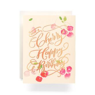 Cherry Happy Birthday Greeting Card