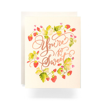 Sweet Strawberries Greeting Card