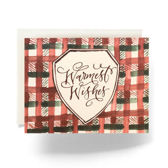 Warmest Wishes Plaid Greeting Card
