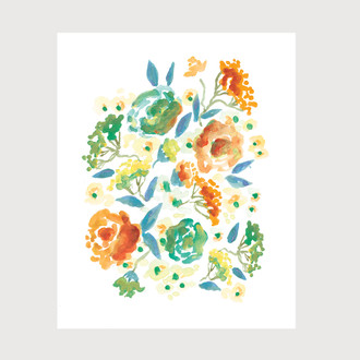 Lucy Floral Art Print