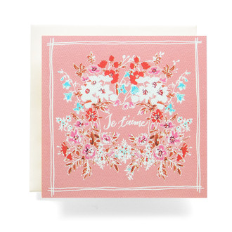 Handkerchief Je t'aime Greeting Card