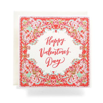Handkerchief Valentine Greeting Card