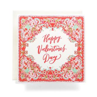 Handkerchief Valentine Greeting Card