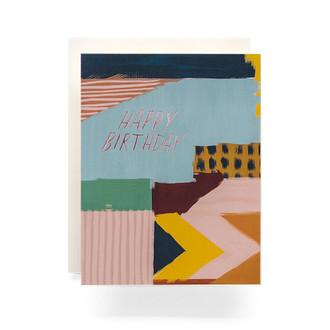Abstract Birthday Greeting Card