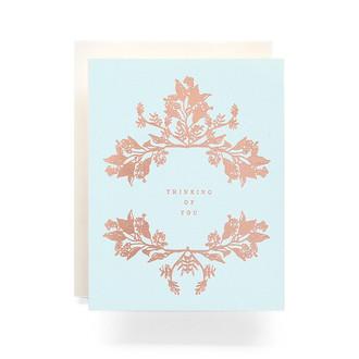 Botanical Wreath Thinking of You Greeting Card