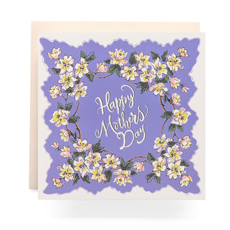Handkerchief Mothers Day Greeting Card