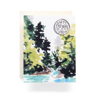 Mountain Stream Fathers Day Greeting Card