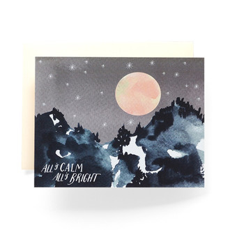 All is Calm Mountain Greeting Card