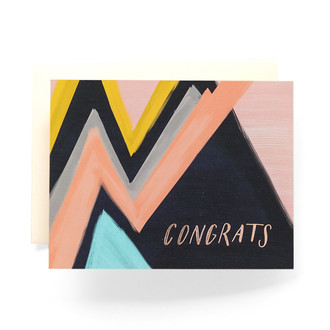Abstract Congrats Greeting Card