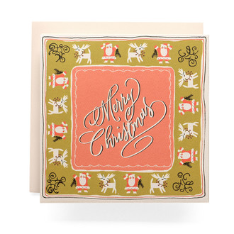 Handkerchief Merry Christmas Greeting Card