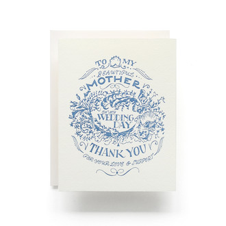 For my Mother, Wedding Day Crest Greeting Card