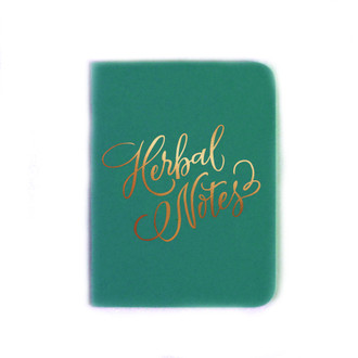 """Herbal Thoughts"" Gold Foil Notebook, Bermuda"
