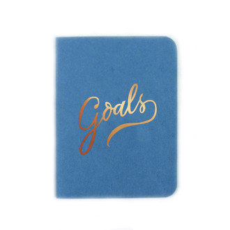 """Goals"" Gold Foil Notebook, Lake"