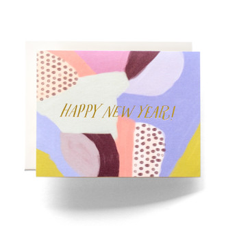 Abstract New Years Greeting Card