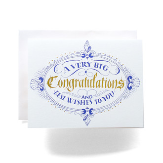 Congratulations Crest Greeting Card