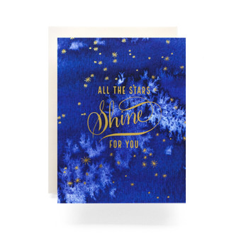 Indigo All The Stars Greeting Card