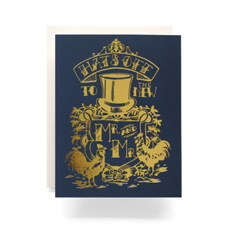 Mr. & Mr. Crest Greeting Card