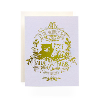 Mrs. & Mrs. Crest Greeting Card