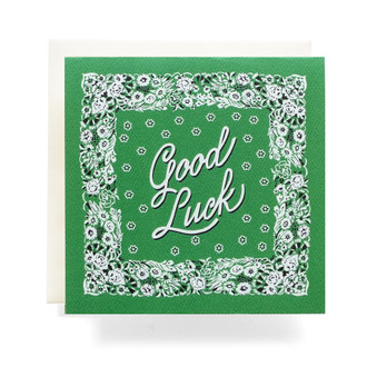 "Bandana ""Good Luck"" Greeting Card"
