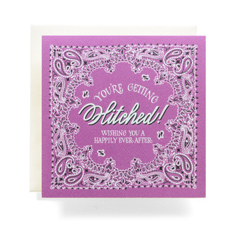 "Bandana ""Getting Hitched"" Greeting Card"