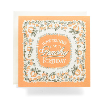 "Bandana ""Peachy Birthday"" Greeting Card"
